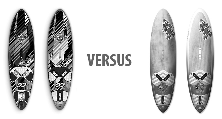 JP Australia Freestyle Wave VS Starboard Kode Freestyle Wave